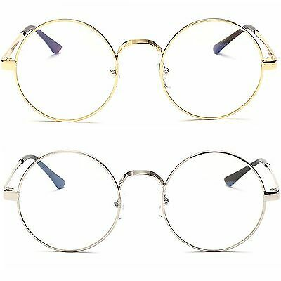 Round Clear Lens Fashion Glasses Women's Mens