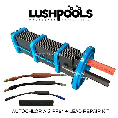 Auto Chlor Self Cleaning RP64  64amp Chlorinator Cell + LEAD REPAIR KIT