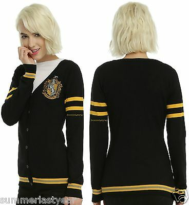 Harry Potter Button Up Hufflepuff Cardigan Costume Cosplay Every Day Free Ship