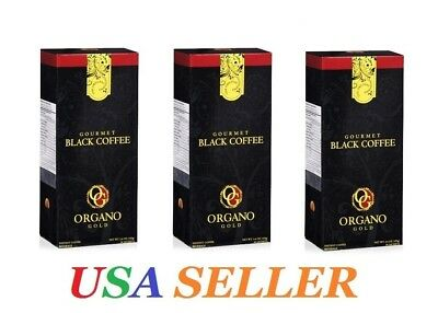 3 Boxes ORGANO GOLD GOURMET BLACK COFFEE SHIPS EXPEDITE Delivered in 1-3 Days!