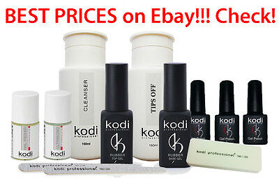 Kodi Professional Rubber Top Base Cleanser Nail fresher Tips off Ultrabond
