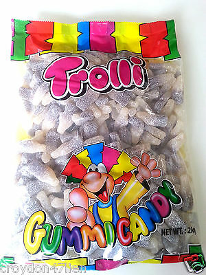 Trolli Sour Cola Bottles - Bulk Lollies 2kg