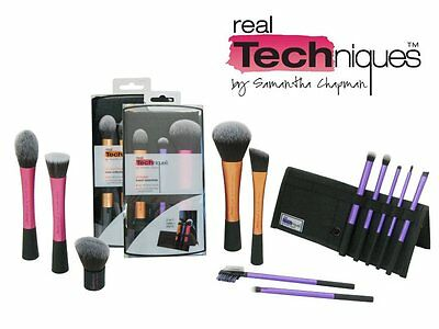 Real Techniques Makeup Brushes in Retail Boxes Cosmetic Brush Kit Set US Seller