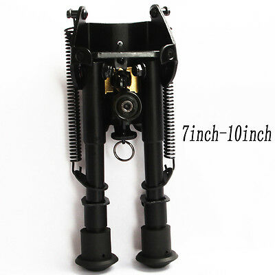 """Adjustable Military Stud Spring Eject 7""""-10"""" Scope Bipod For Rifle Scope"""
