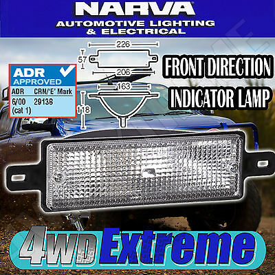 Narva Front Direction Indicator Lamp Light Clear Bullbar Arb 12 Volt 87260