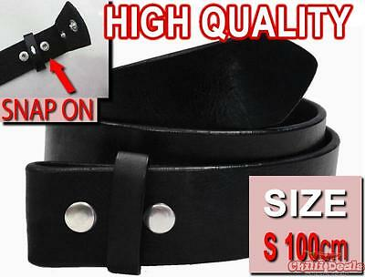 S SMALL 100cm Easy Snap on PU Leather Unisex belt , strap belt for buckle