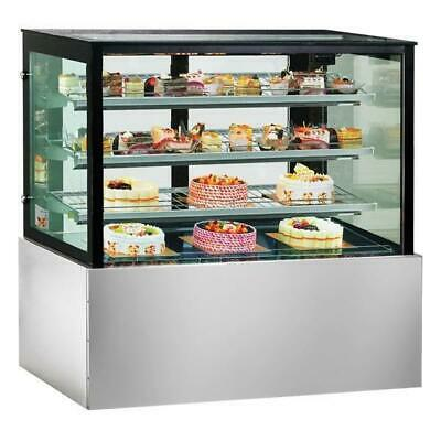 Cake & Food Cold Display Unit, Square Chilled Cabinet 1200x740x1350mm NEW