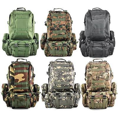 50L Military Molle 3 Day Assault Tactical Rucksacks Backpack Camping bag Outdoor