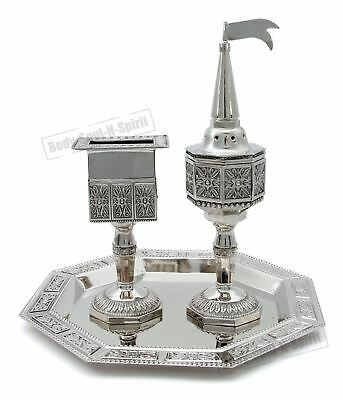 Traditional Candle Spices Havdalah Set Kiddush Cup Fragrance Judaica Kabbalah