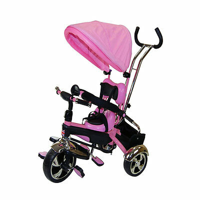 Kyootsi Smart Trike Baby Tricycle 4 in 1 Kids Bike with Round Canopy Hood - Pink