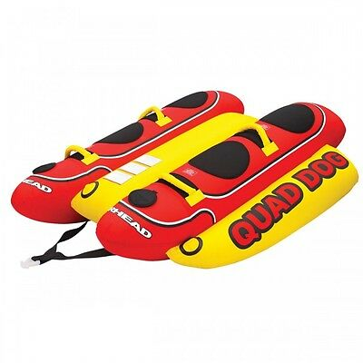 Airhead Quad Dog Towable Inflatable Banana Tube 4 Riders