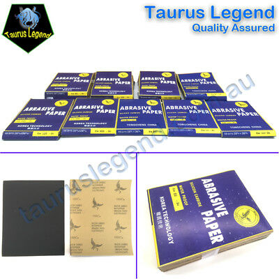 Waterproof SandPaper Wet and Dry Electrocoated Abrasive Paper -Pack of 20 Sheets