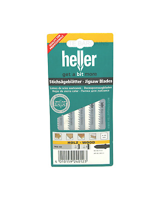 Heller T111C HCS Wood Jigsaw Blades - 5 Pack - High Quality German Cutting Tools