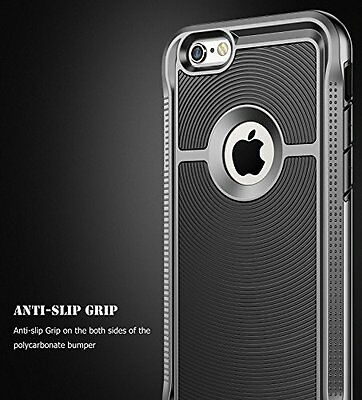 NEW BLACK Hybrid Shock Absorbent Armor Defender Case Cover for Apple iPhone 6 6S