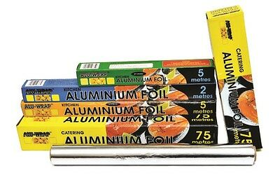 Aluminium Kitchen Catering Foil Tin Food Baking Oven Wrap *ALL SIZES AVAILABLE*