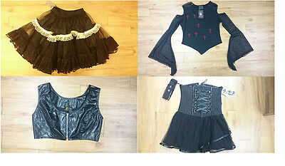 Ladies Gothic clothing/ Bundle pack/ Multi buy/ 4 pack/ Black/ Size 16/L - 604