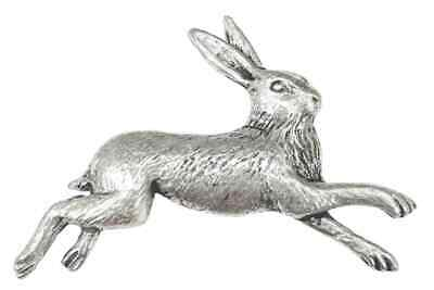 Hare Finely Handcrafted in Solid Pewter In UK Lapel Pin Badge