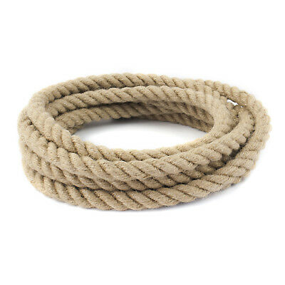 10mm JUTE ROPE impregnated natural fibre laid twisted three strands forestry new