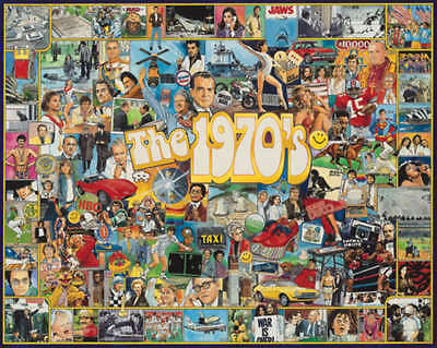 "Jigsaw Puzzle Ultimate Trivia 1000 Pieces 24""X30"" The Seventies WM478"
