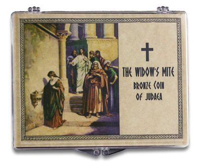 The Biblical Widow's Mite: Bronze Coin of Judea in a Clear Box High grade coin!
