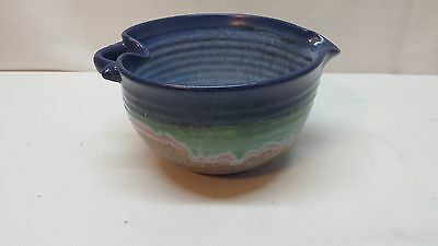 Handmade Stoneware Pottery Bowl signed by artist