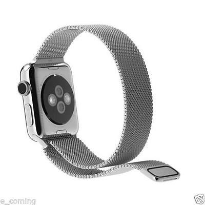 Milanese Magnetic Loop Stainless Steel Strap SILVER Bands For Apple  iWatch 38mm