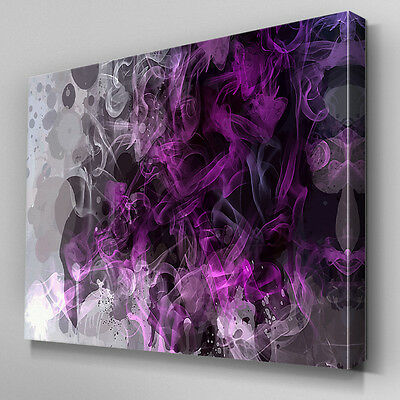 AB806 Modern purple contemporary Canvas Wall Art Abstract Picture Large Print
