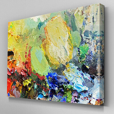 AB697 MODERN MULTI colour paint Canvas Wall Art Abstract Picture ...
