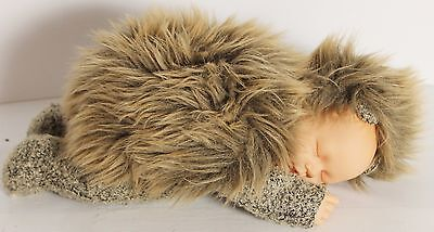 "Anne Geddes HedgeHog Doll Sleeping Baby 11"" Unimax ToysU"