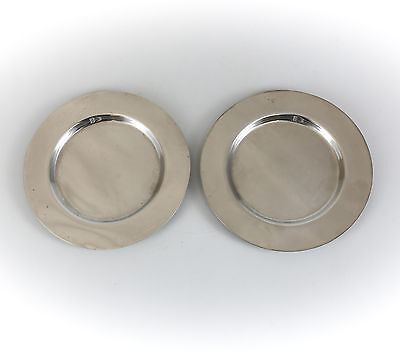 Pair of Wallace Sterling Silver Bread & Butter Plates #9, c.1960