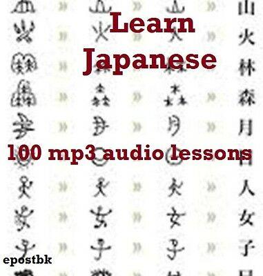 Learn Japanese 100 Lessons Audio Book MP3 CD iPod Friendly Japanes Language disc
