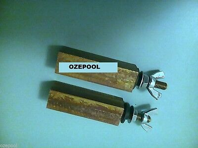 Ionizers Electrode Replacement/pair, suit aquamatic and Poolfresh, copper/silver