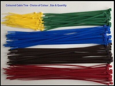 Cable Ties Coloured - Plastic / Nylon Zip Tie Red Blue Brown Yellow Green Colour