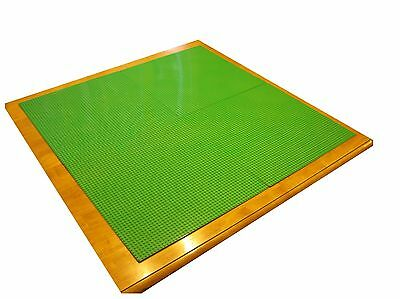 "Table Surface Kit - 30x30"" Compatible w LEGO- Set of 4 Green Building Baseplates"