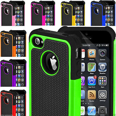 Heavy Duty Armour Shock Proof Builder Workman Case Cover For Apple iPhone 4 5 6S