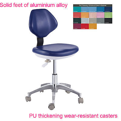 Dental Medical Dentist's Stool Doctor's Stool Adjustable Mobile Chair PU Leather