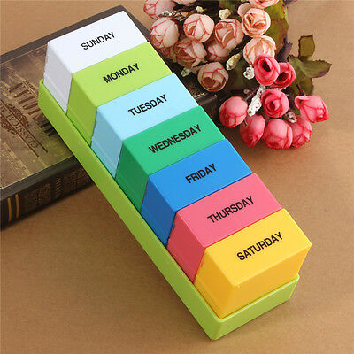 7 Day Weekly Tablet Pill Medicine Boxes Holder Storage Container Case New