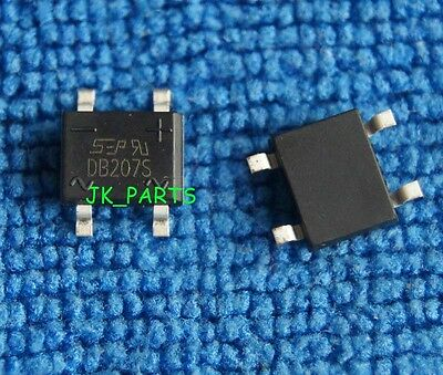 50pcs DB207S 2A 1000V SMD Bridge Rectifiers
