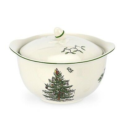 Spode Christmas Tree Individual Casserole with Handles