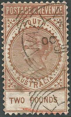 SOUTH AUSTRALIA 1886-96 LONG TYPE £2 Redbrown POSTAGE & REVENUE ACSC41 fine used