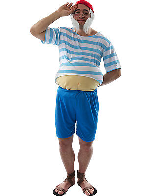 Adult Mens Tubby Pirate Funny Novelty Party Book Festival Fancy Dress Costume