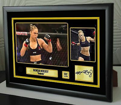 "Ronda Rousey UFC canvas tribute signed Limited Edition ""Great Gift / Souvenir"""
