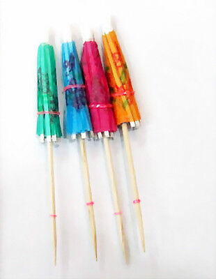 144X MINI DRINK UMBRELLAS cocktail social birthday party favors wholesale supply