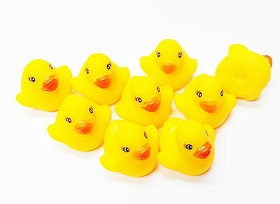 72X super mini small duck Squeaky Bath Tub Toy Baby Infant Rubber Bathing Cute