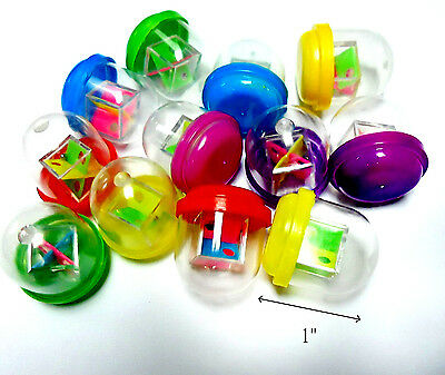 "50X 1"" capsule filled with 3D Mini maze pinball cube Brain Teaser Toy vending"