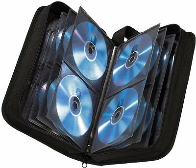 80 CD DVD Carry Case Disc Storage Holder CD Sleeve Wallet Ideal for In Car