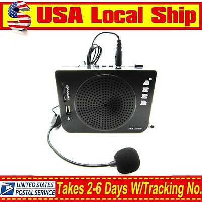 Aker 16W Waistband Portable PA Voice Booster Amplifier Speaker For MP3&FM Radio