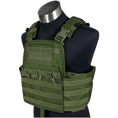 Flyye Field Compact Plate Carrier Hunting Shooting Armour Molle Vest Olive Drab