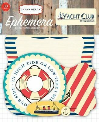 "Carta Bella ""yacht Club"" Ephemera Die Cuts (33 Pieces) Boating Scrapjack's Place"