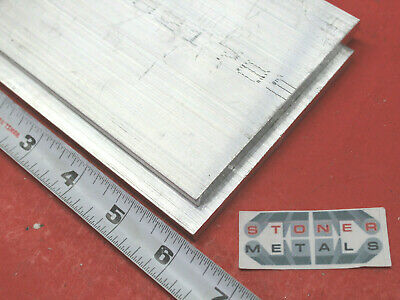 "2 Pieces 1/4"" X 4"" ALUMINUM 6061 FLAT BAR 6"" long T6511 SOLID Plate Mill Stock"